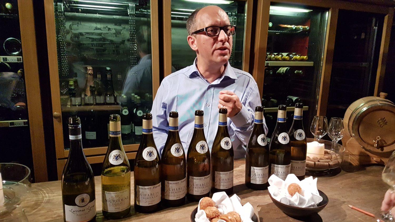Notes sur une dégustation de vins Simonnet-Febvre