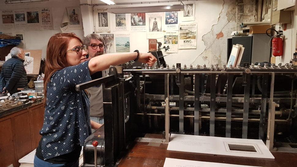 Céline Métayer : réglage de la machine