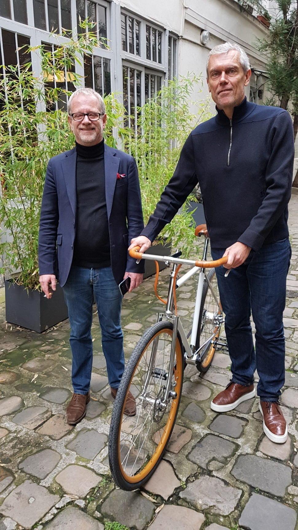 Frédéric Jastrzebski en compagnie de Vincent Rebours