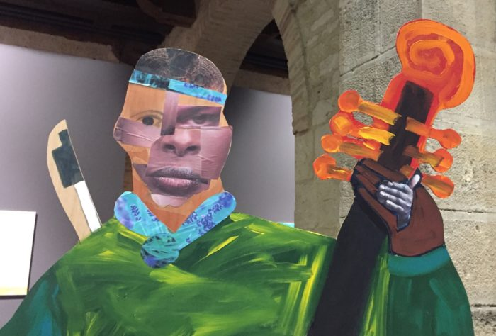 The musician - Installation « Naming the Money » de Lubaina Himid