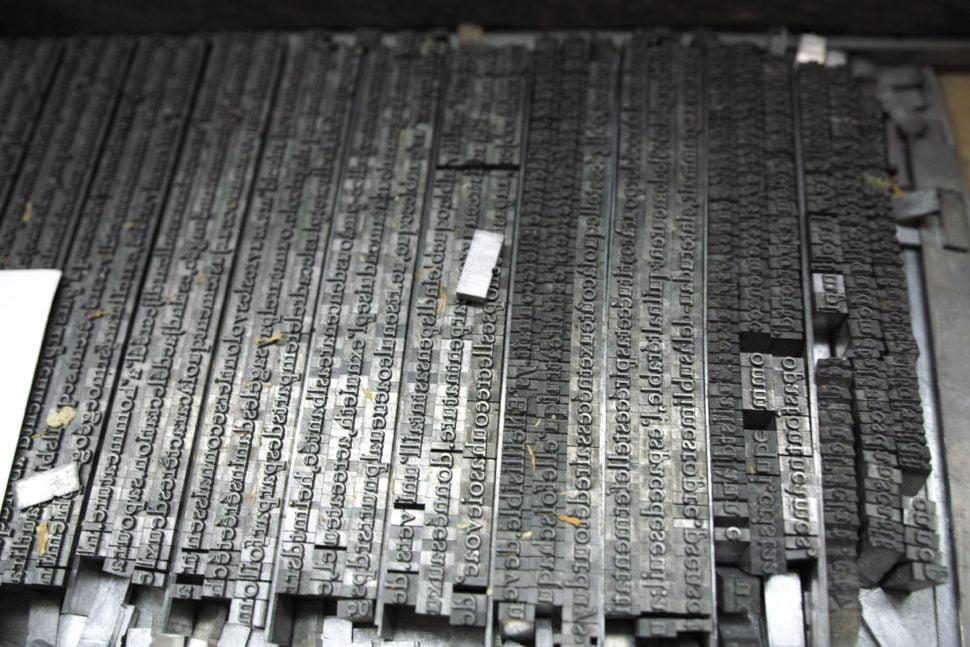 Polices de caractères en plomb utilisées pour l'impression typographique