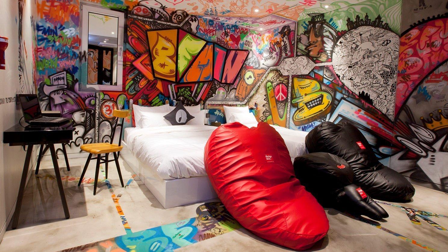 Chambre d'hôtel design en corée