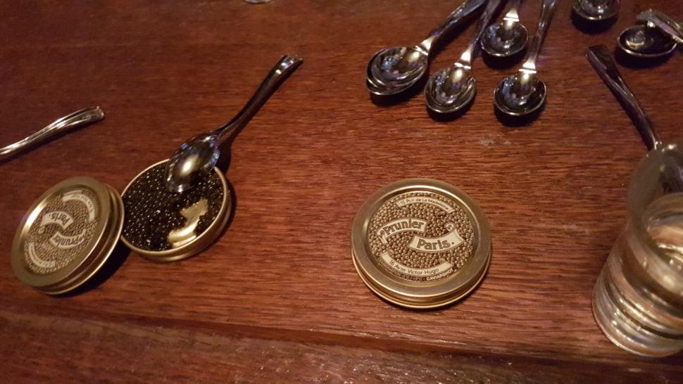 Caviar 'Siècle' de Prunier, 10€ les dix grammes, au comptoir des Sardignac