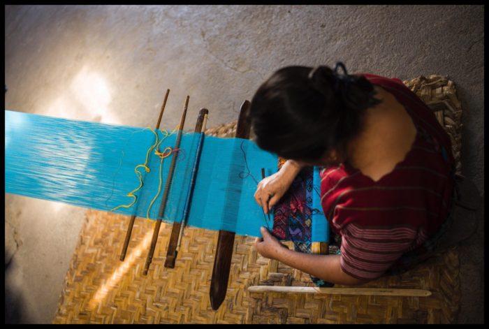 Atelier de tissage au Guatémala