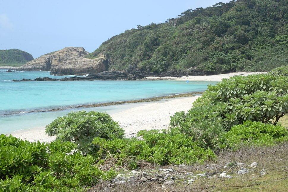 Une plage sur l'île d'Aka