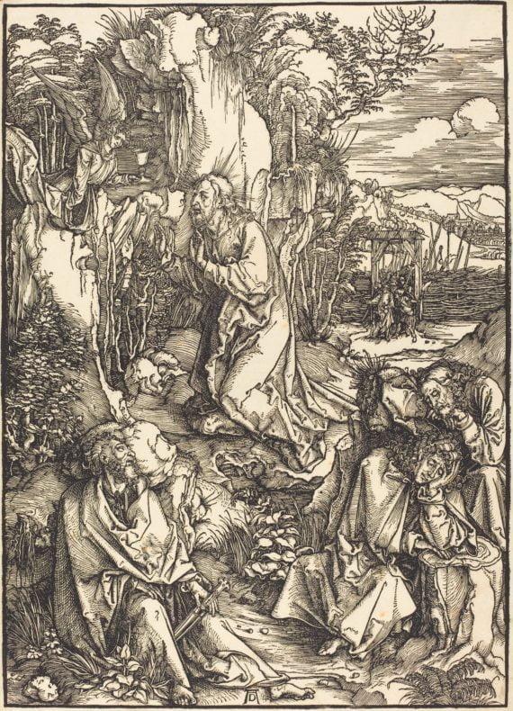 Albrecht Dürer. Passion, Le Christ sur le mont des oliviers.