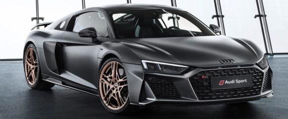 La R8 Decennium d'Audi Sport, dotée du V10 survitaminé, a été produite à 222 exemplaires.