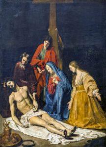 Nicolas Tournier. Le Christ descendu de la Croix.