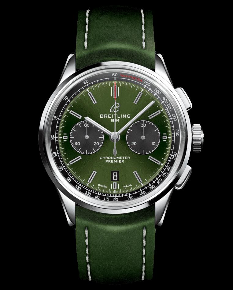La Breitling B01 British Racing Green