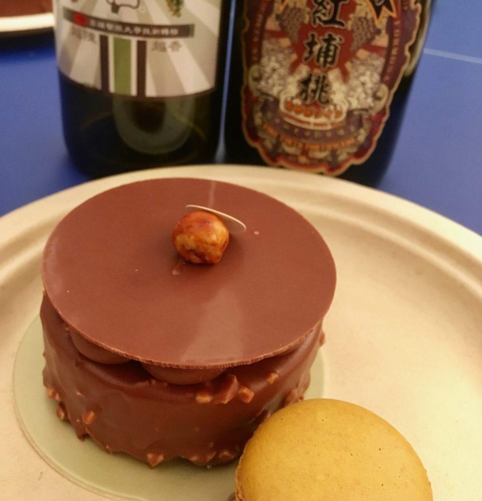 Les gâteaux de Pierre Hermé offrent un accord gourmand avec les rares vins de Taiwan. Photo