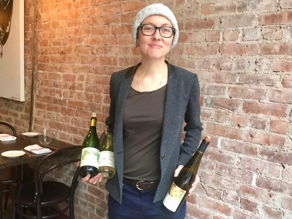 Pascaline Lepeltier, meilleure sommelière de France et MOF sommelière 2018, présente connait chaque vin de sa carte comme si elle l'avait fait, mais reste simple et directe avec les clients