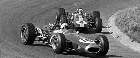 Brabham et Clark n°6 au Dutch Grand Prix de 1966.