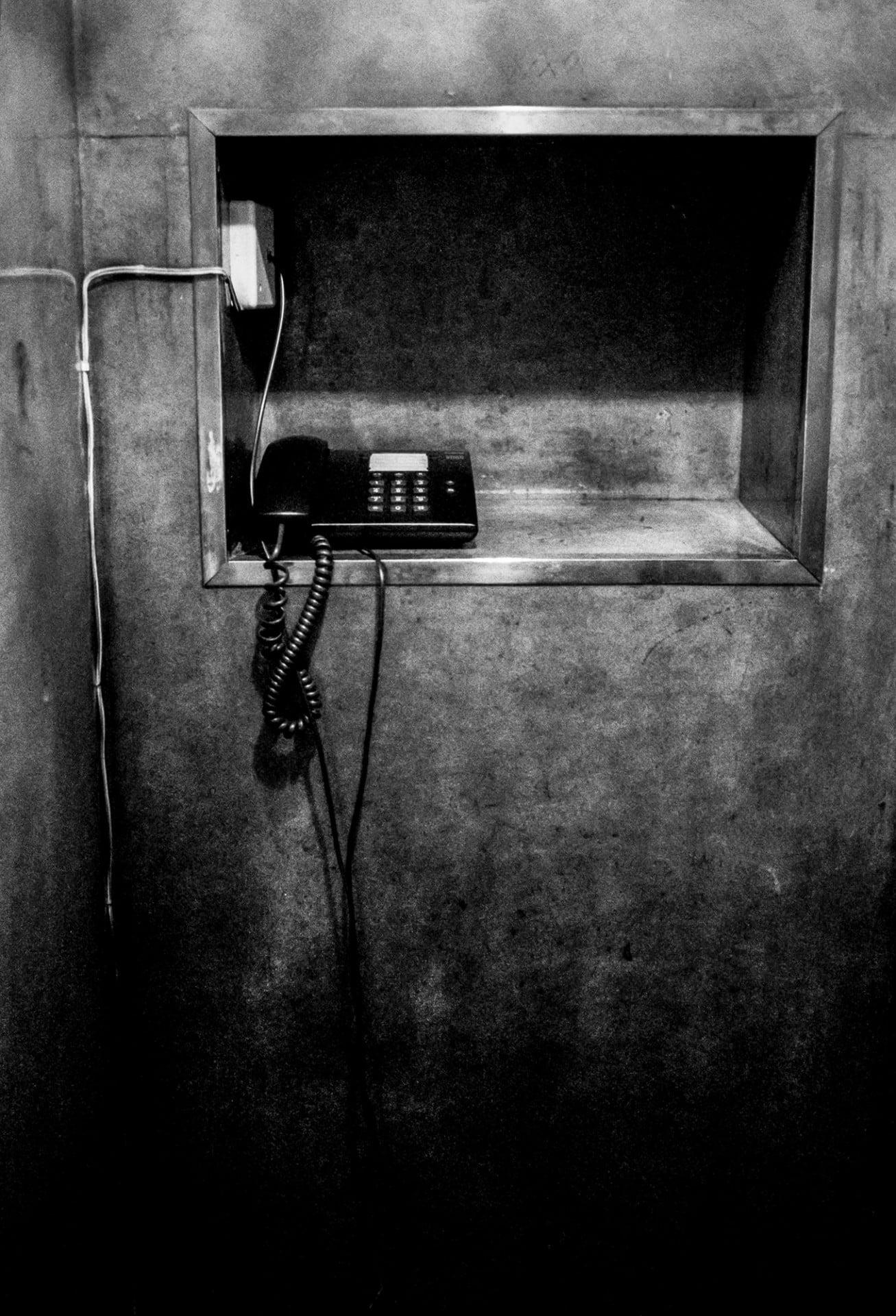Vieux téléphone à l'Hôtel Astoria, Coimbra