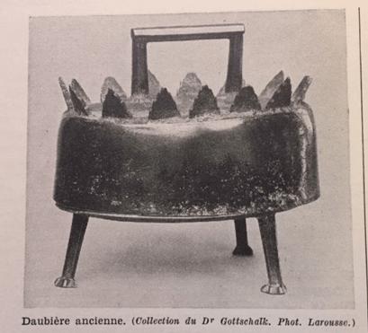 Daubière ancienne, illustration du Larousse gastronomique de Prosper Montagné, édition originale de 1938