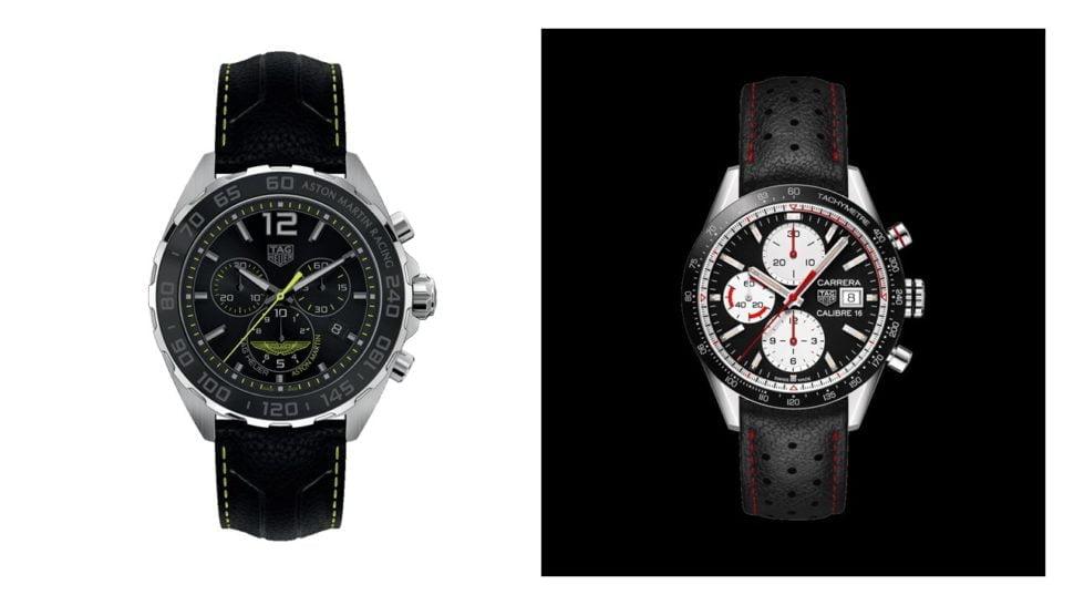 TAG sait introduire l'esprit sportif d'Aston Martin Racing dans ses montres (ci-dessus à gauche); Patrick Dempsey, ambassadeur depuis 2014 de l'horloger suisse, mène trois vies aux rythmes différents père, acteur et pilote.