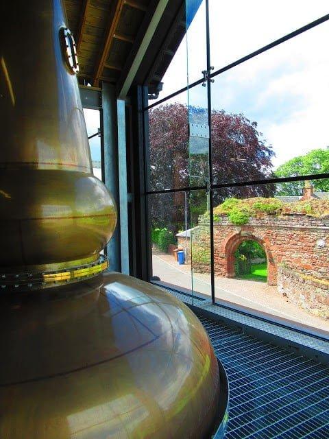 Distillerie sur le site de l'abbaye de Lindores en Ecosse