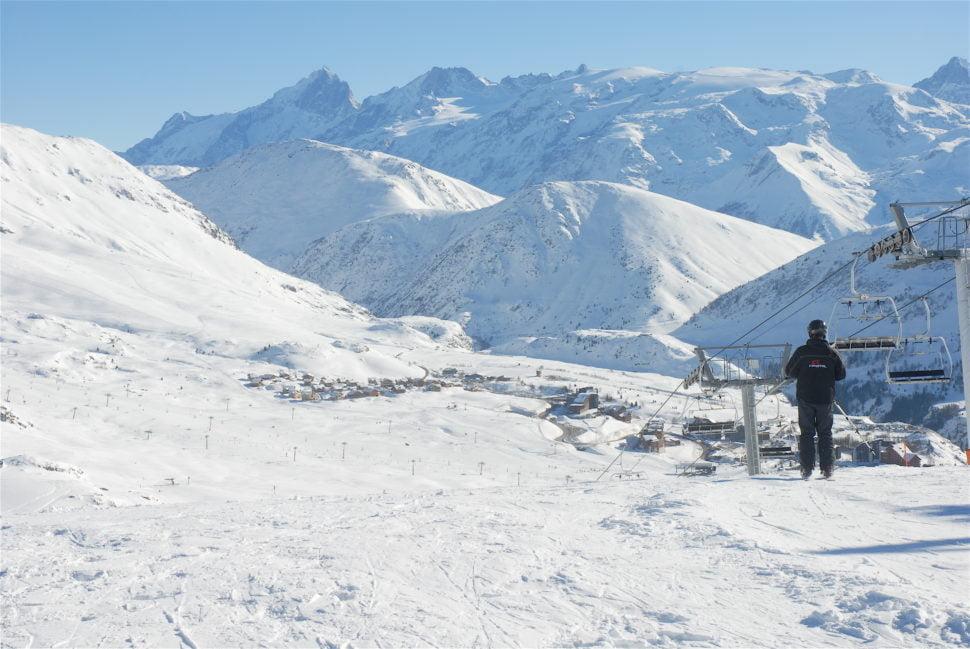 Le domaine de l'Alpe d'Huez.
