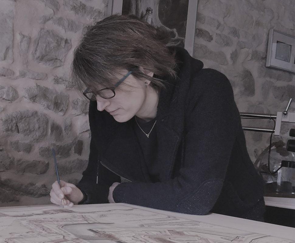 Malaurie Auliac dans son atelier
