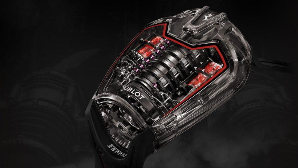 Ferrari & Hublot un chronographe à l'image d'un moteur de l'écurie italienne