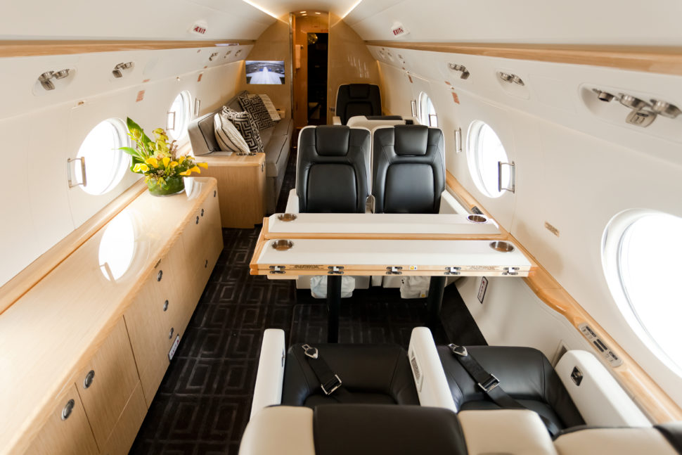 La cabine intérieure Gulfstream g550.