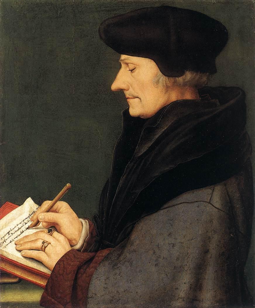 Portrait de Desiderius Erasmus (1523) par Hans Holbein Le Jeune (1497–1543)