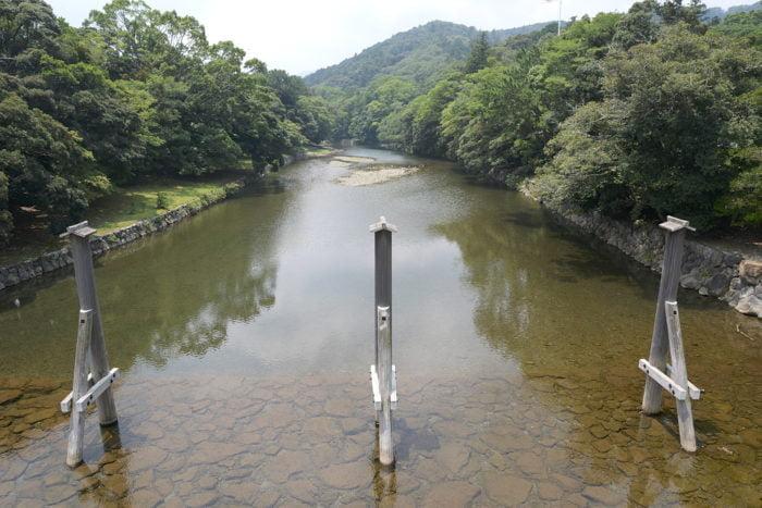 Rivière délimitant le parc du Naikû