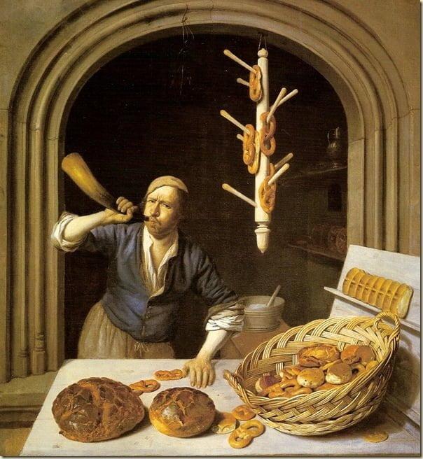 Le pain est au coeur des natures mortes de l'école hollandaise – Job Berckheyde (1630-1693) Le boulanger, ca. 1681