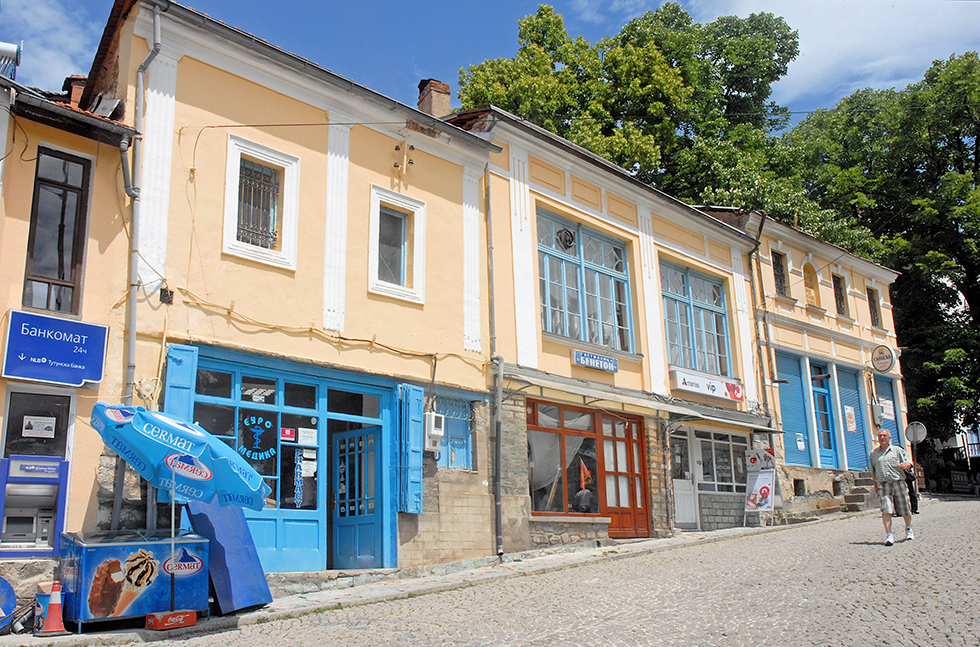 Une ruelle dans la ville de Krusevo.