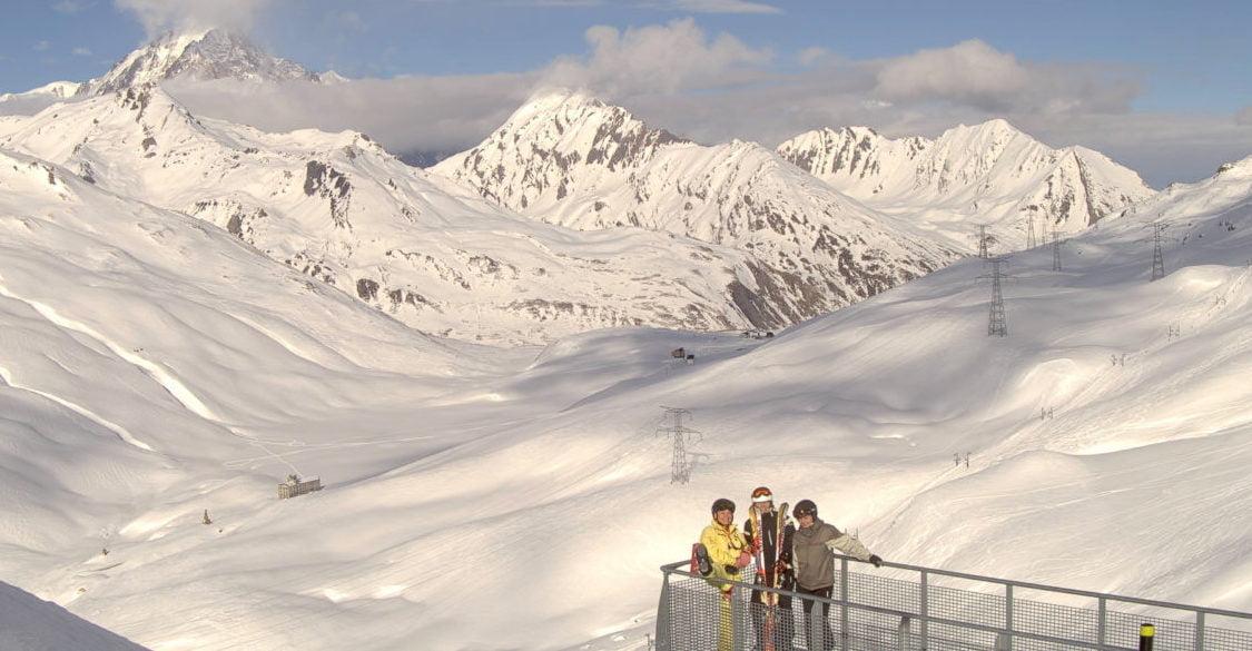 Cliché réalisé, sur demande, avec son forfait en haut du télésiège du Fort, face au Mont Blanc