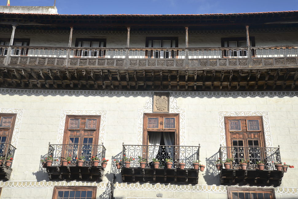 Architecture canarienne typique des XVIIe et XVIIIe siècles, la façade de La Orotava.