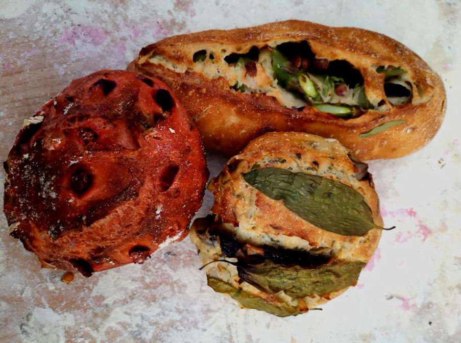 Pains cuisinier, créations d'Anthony Courteille pour un Afterwork/dégustation en accord avec des vins Henri Marionnet, organisé par Singular's le jeuid 18 avril 2019