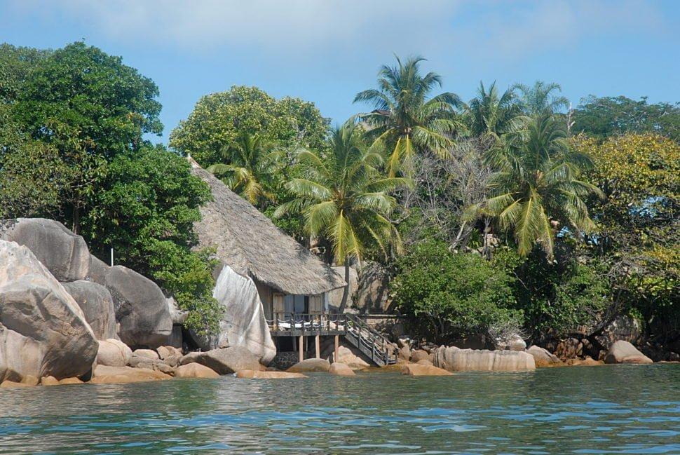 L'Ilot Chauve-Souris sur l'île de Praslin.