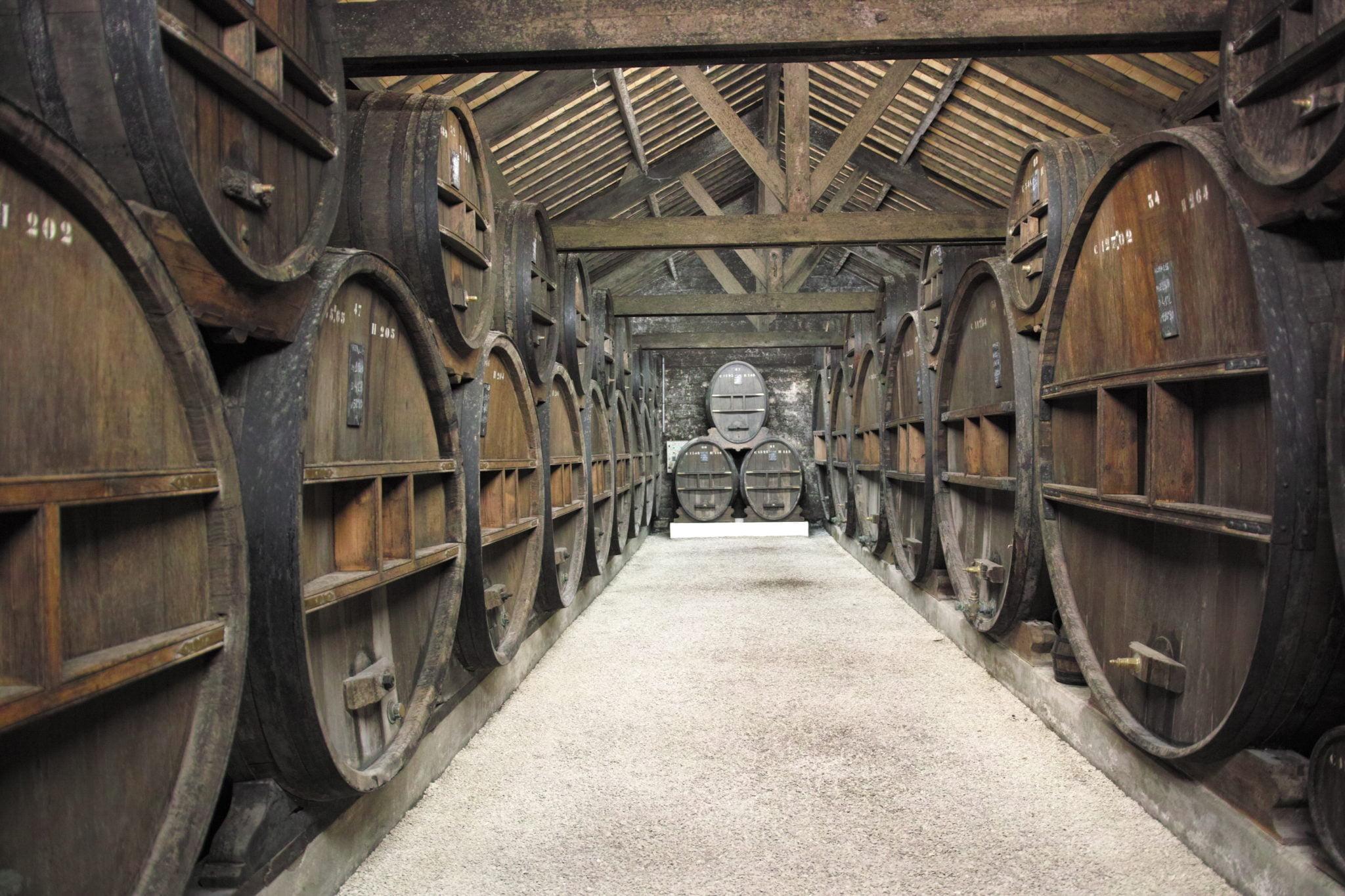 Un des Chais de vieillissement du Domaine Calvados