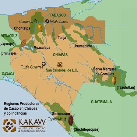 Les zones de production du cacao