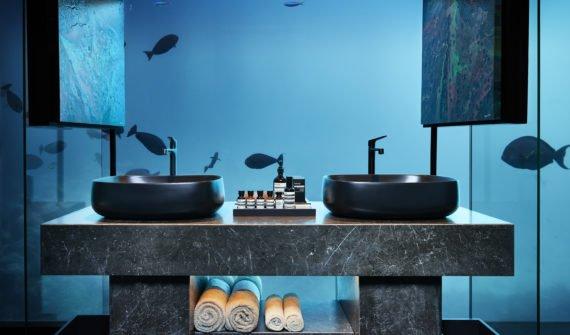 salle de bain de la suite Muraka