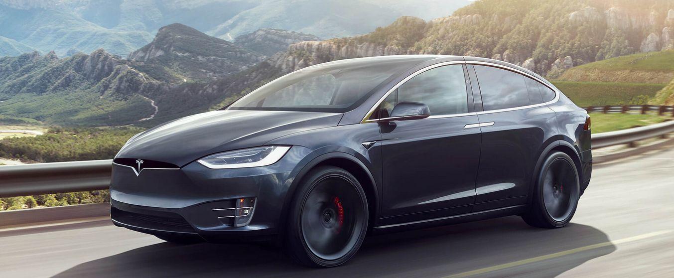 Tesla Model X SUV.