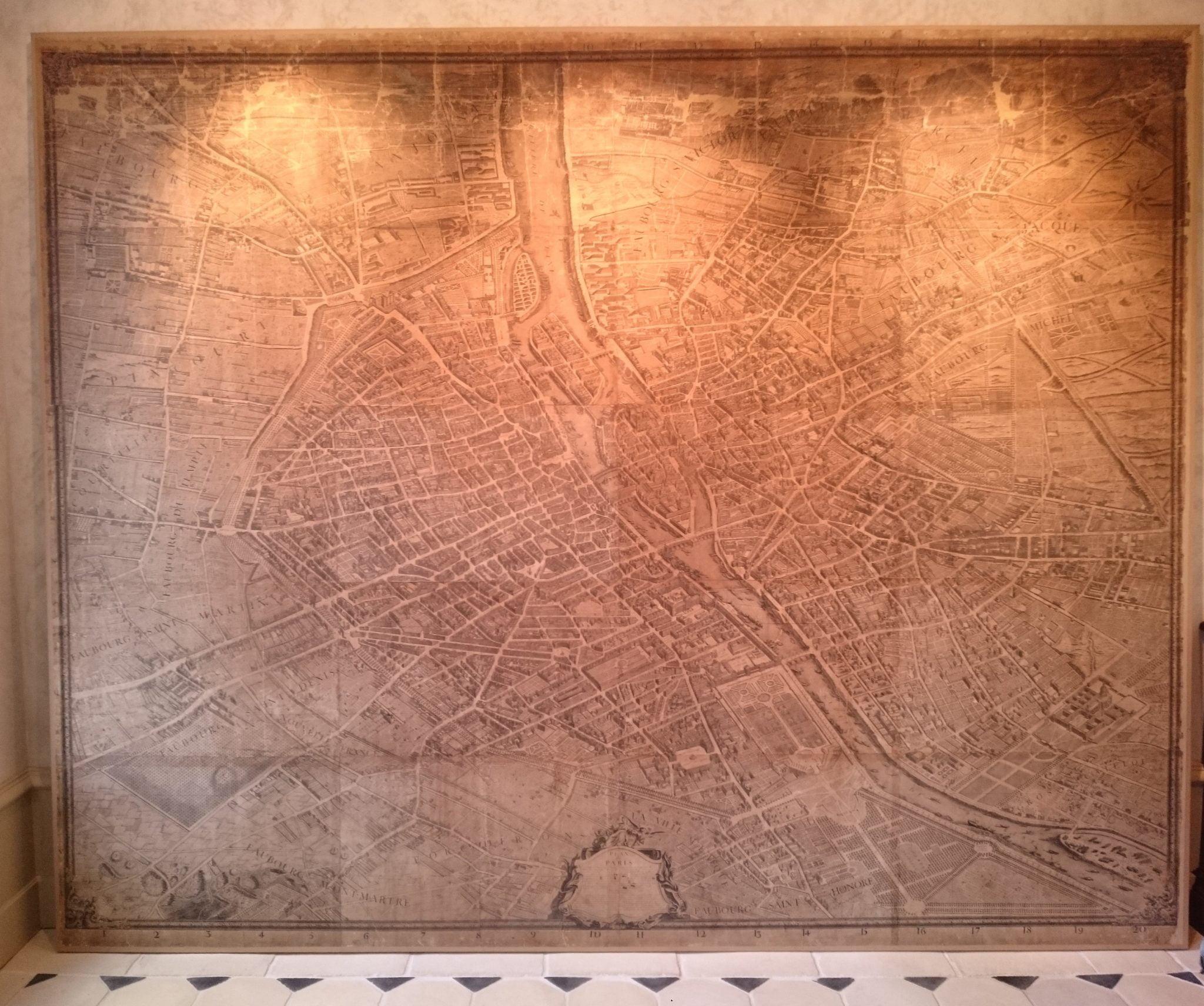 Le 'plan de Turgot' restauré présente Paris en 1734