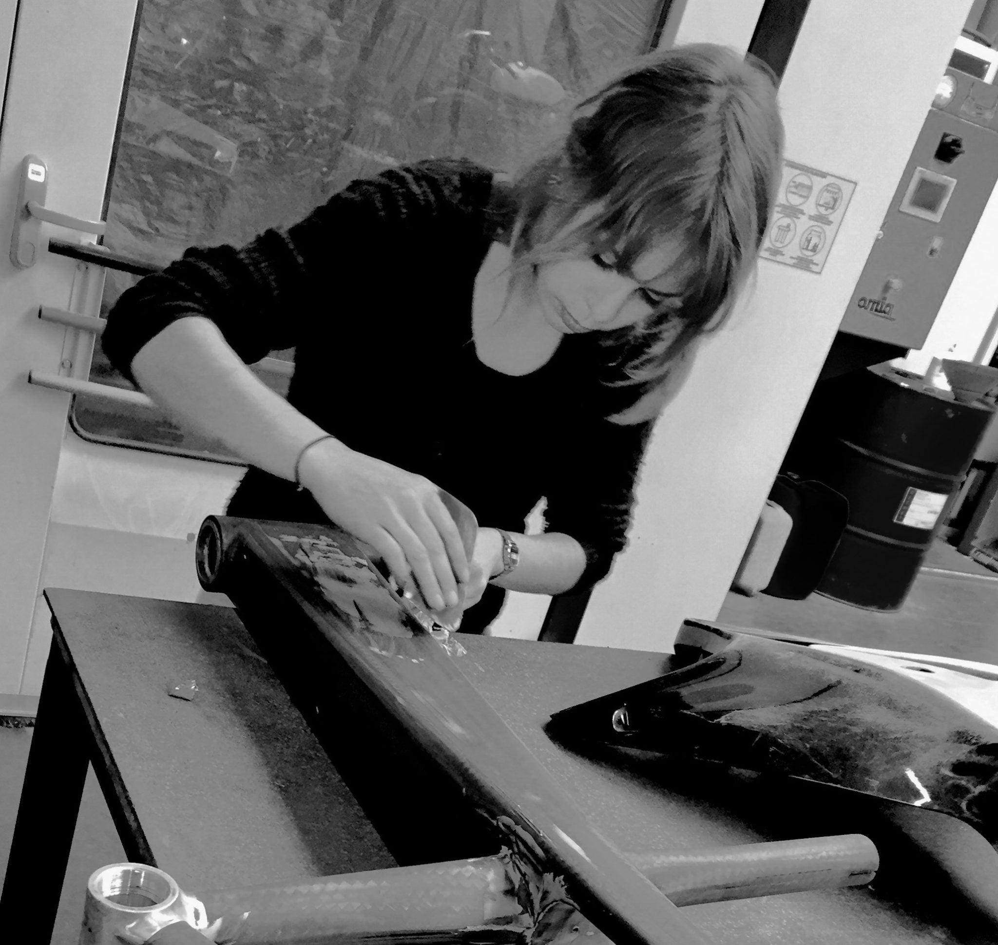 Audrey Lefort à la technique