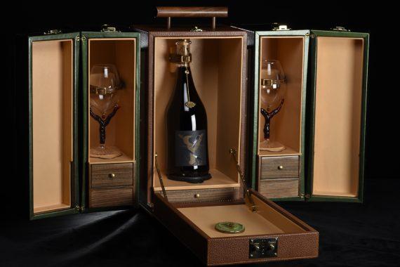 Mallette de présentation du vin du Domaine de l'Amandyère