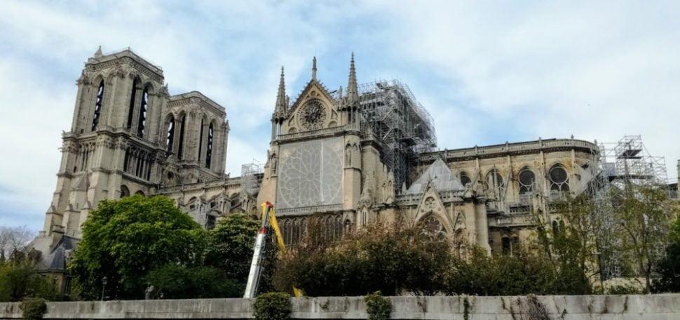 Notre-Dame de Paris 5 jours après l'incendie