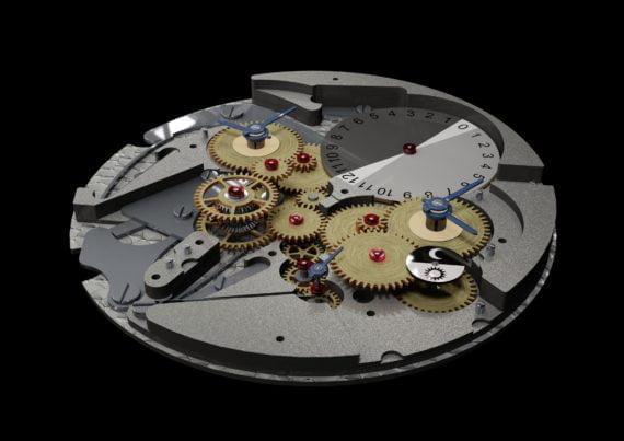 l'invention d'Onésiphore Pecqueur appliquée aux deux cadrans