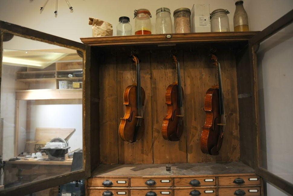 Les violons produits dans l'atelier que David-Léonard