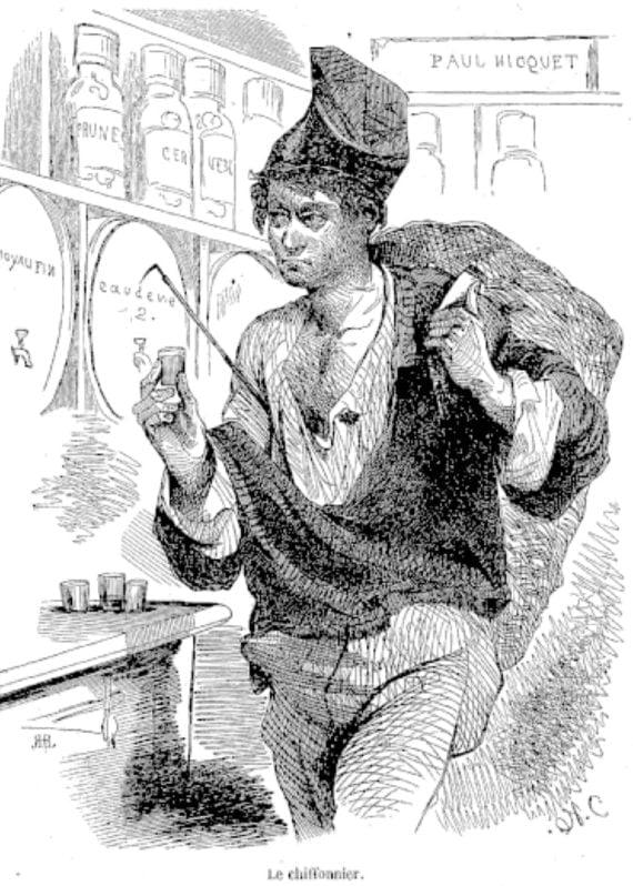 Chiffonnier parisien par Blanchard Tableau de Paris, édité par Edmond Texier